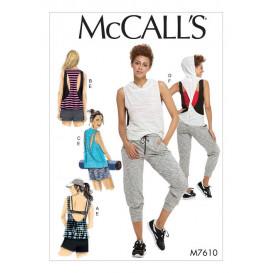 patron hauts, short et pantalon McCall's M7610