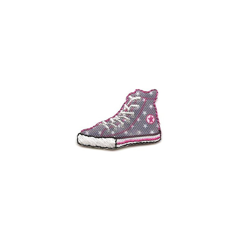 Cusson chaussure toile grise thermocollant - Stickers etoile grise ...