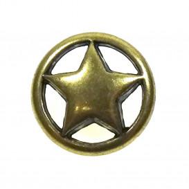 bouton rond étoile 18mm