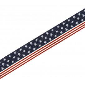 ruban épais USA jeans poly/coton 25mm x 50cm
