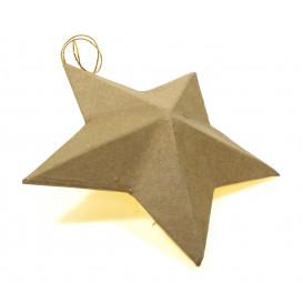 étoile 3D en papier mâché 13cm