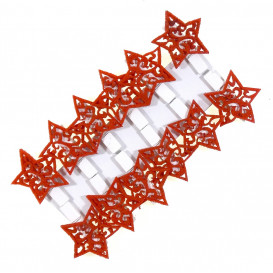 12 pinces à linge feutrine étoiles 3,5cm