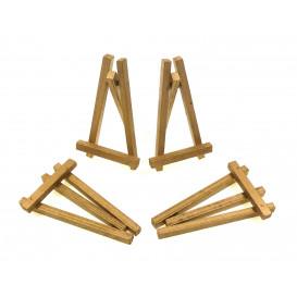 4 petits chevalets or en bois 8x4,5cm