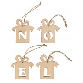 4 cadeaux lettres noël à suspendre