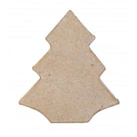 boite sapin en papier mâché 9x10x3,5cm