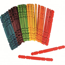 50 batonnets de construction couleurs 11,4cm