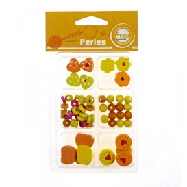 ASSORTIMENT PERLES BOIS ORANGE