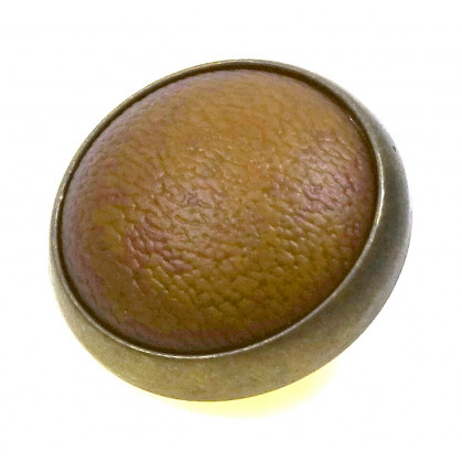 bouton marron clair bombé