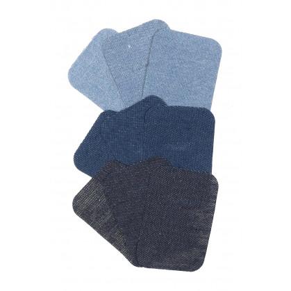 9 pièces thermocollantes jeans 7,5x5cm
