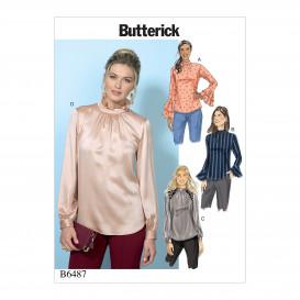 patron hauts ajustés Butterick B6487