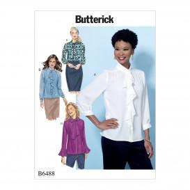 patron haut semi-ajusté Butterick B6488