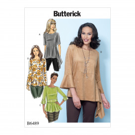 patron hauts amples Butterick B6489