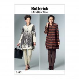patron chemise très amples Butterick B6491