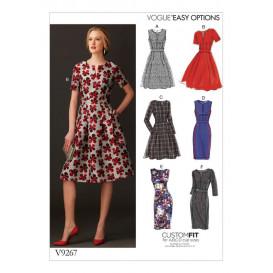 patron robe ajustée Vogue V9267