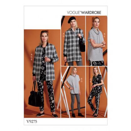 patron veste, tunique, pantallon Vogue V9275