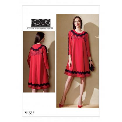 patron robe ample Vogue V1553
