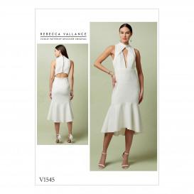 patron robe moulante Vogue V1545