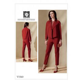 patron veste et pantalon Vogue V1560