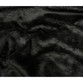 tissu imitation fourrure noir largeur 153cm x 50cm