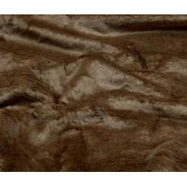 tissu imitation fourrure marron largeur 153cm x 50cm
