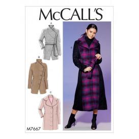 patron manteaux et ceinture McCall's M7667
