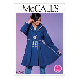 patron manteau très ample McCall's M7666