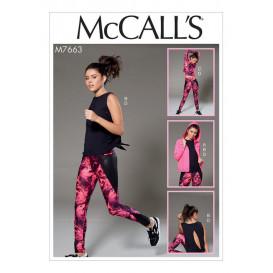 patron veste, hauts, collants McCall's M7663