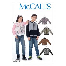 patron enfant veste McCall's M7619