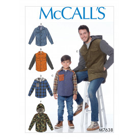 patron vestes doublées McCall's M7638