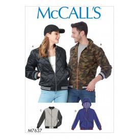 patron vestes unisexe McCall's M7637