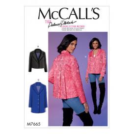 patron veste ample McCall's M7665