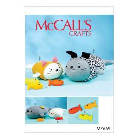 patron jouet en peluche McCall's M7669