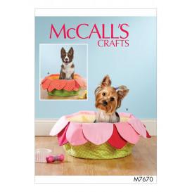 patron lit pour animal de compagnie McCall's M7670