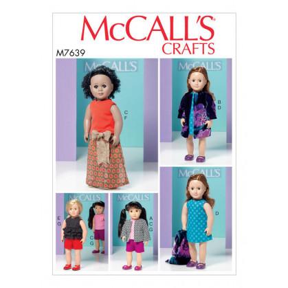 patron vêtements de poupée 46cm McCall's M7639