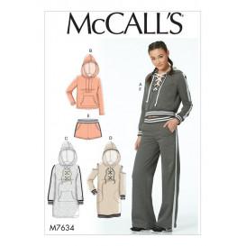 patron hauts, robes, short, pantalon McCall's M7634