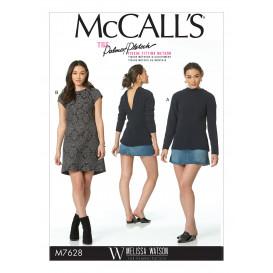 patron haut et robe McCall's M7628