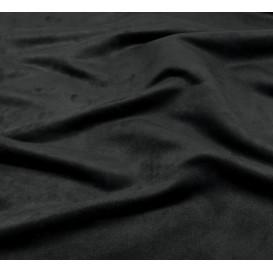 tissu suédine noir largeur 150cm x 50cm