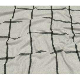 tissu lainage écru carreaux largeur 140cm x 50cm