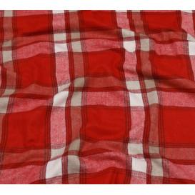 tissu lainage rouge carreaux largeur 140cm x 50cm