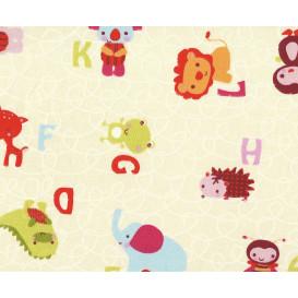 tissu coton cretonne pele mele largeur 160cm x 50cm