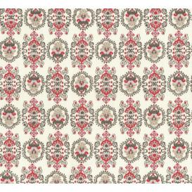 tissu coton écru arabesques largeur 140cm x 50cm