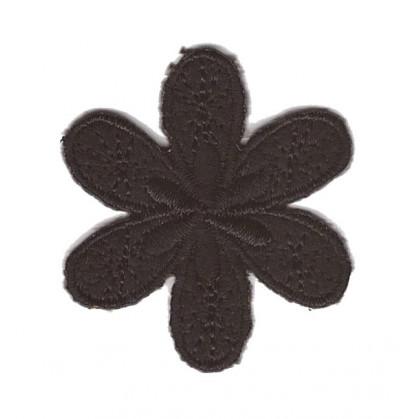 écusson fleur 4,3cm thermocollant