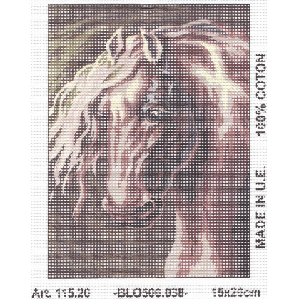 Kit canevas tête de cheval 15x20 cm n°2