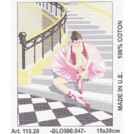 Kit canevas ballerine assise 15x20 cm