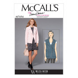 patron veste et gilet McCall's M7694