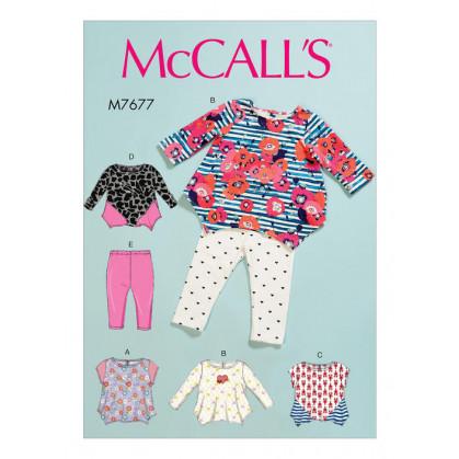 patron enfant hauts, collants bébé McCall's M7677