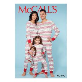 patron combinaisons famille McCall's M7699
