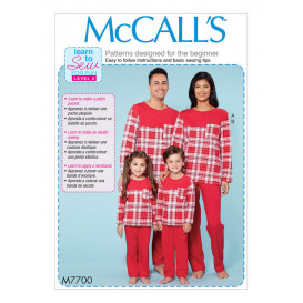 patron haut, pantalon famille McCall's M7700