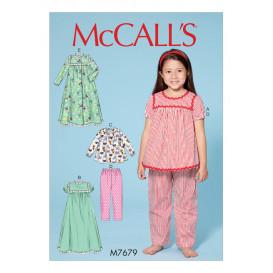 patron enfant hauts, chemise de nuit McCall's M7679
