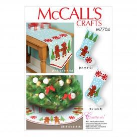 patron décorations de noël McCall's M7704